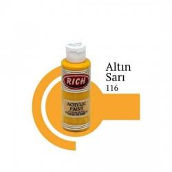 Rich 116 Altın Sarı 120cc Akrilik Boya Su Bazlı