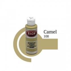 Rich 108 Camel 120cc Akrilik Boya Su Bazlı