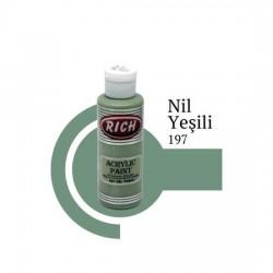Rich 197 Nil Yeşili 120cc Akrilik Boya Su Bazlı