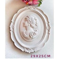 AD0948-Oval Kadın Figürlü Çerçeve